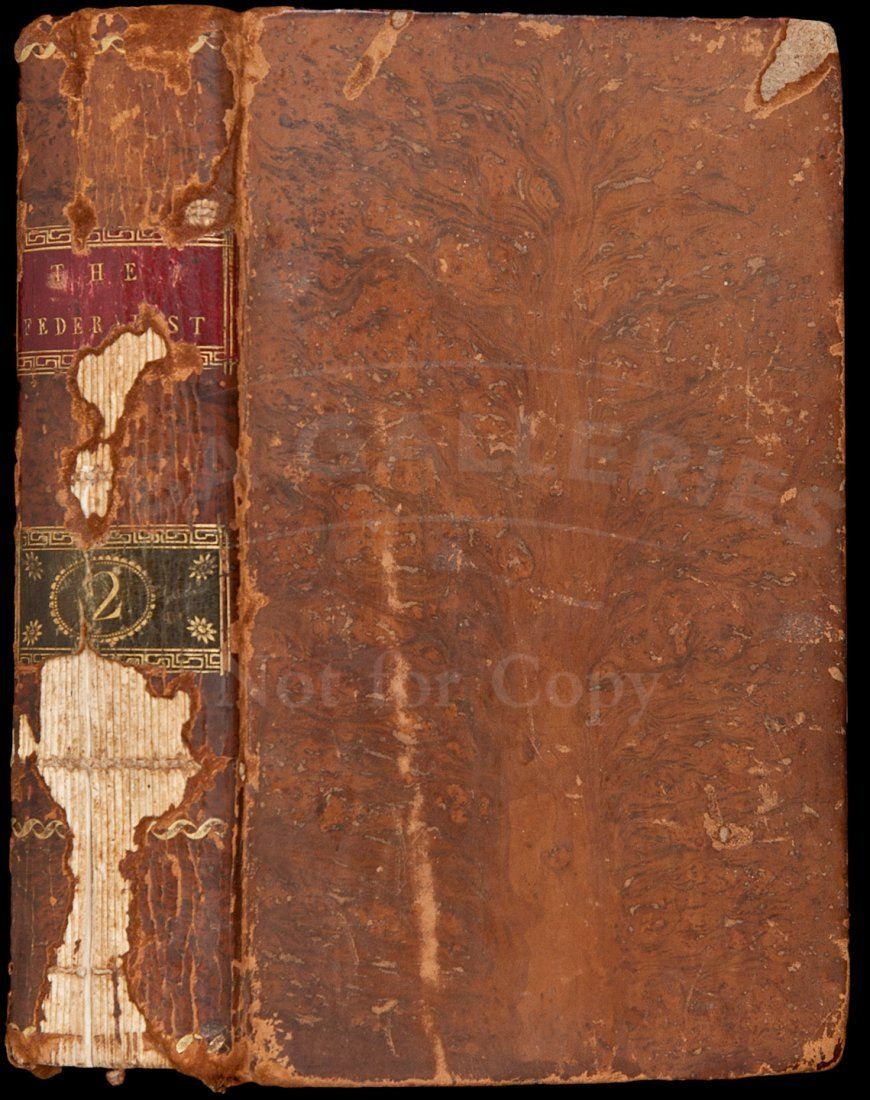 68: First Edition of Federalist Papers, 1788, Vol. II