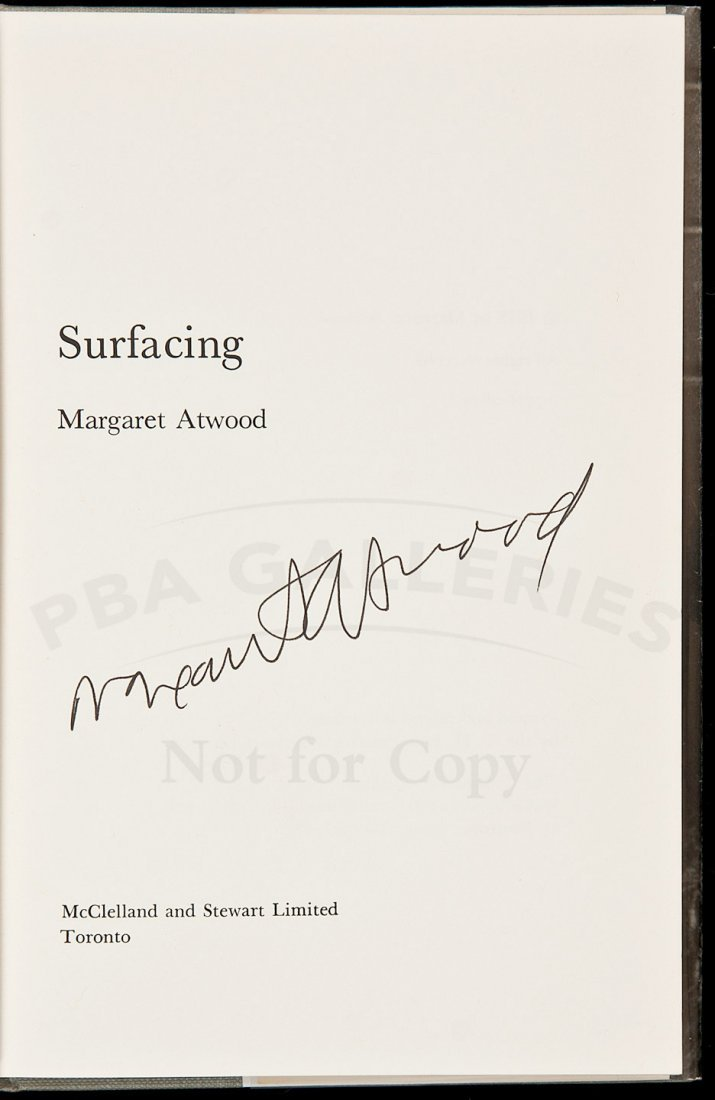 14: Margaret Atwood Surfacing signed