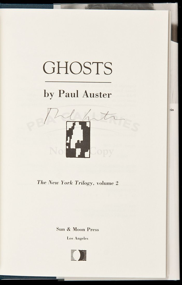15: Ghosts signed by Paul Auster
