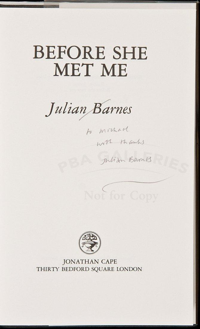 18: Julian Barnes' 2nd novel signed