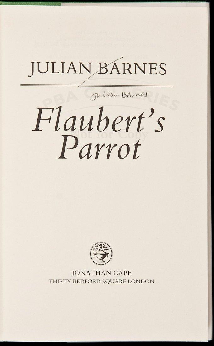19: Julian Barnes Flaubert's Parrot signed