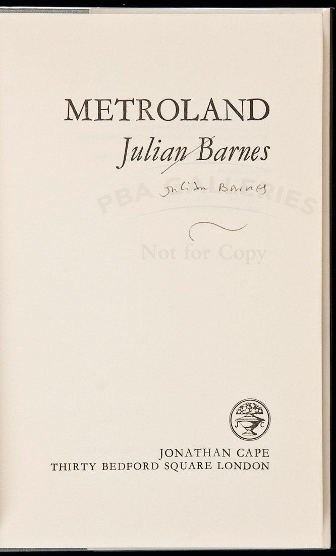 21: Metroland by Julian Barnes signed