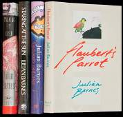 22: Four titles by Julian Barnes, two of them signed