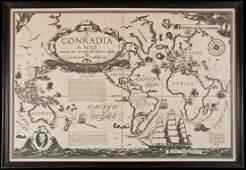 "80: Rare map of Joseph Conrad's novels ""Conradia"""