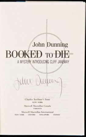 Dunning Booked To Die 1st Ed. Signed