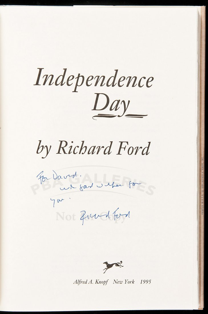 132: Richard Ford Independence Day inscribed