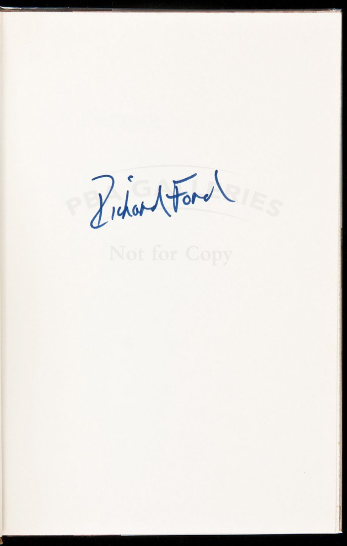 133: Richard Ford's first book signed