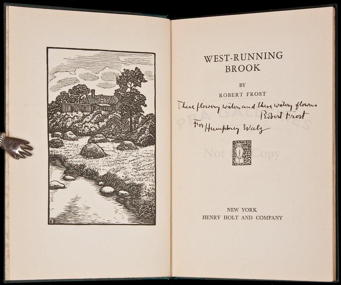 139: Robert Frost West-Running Brook Inscribed