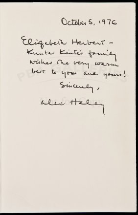 Alex Haley, Roots, First Edition Signed In Jacket