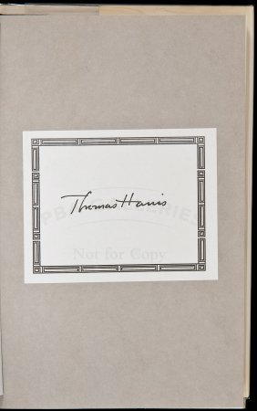 Thomas Harris Red Dragon Signed