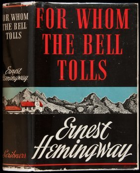 For Whom The Bell Tolls 1st In Dust Jacket
