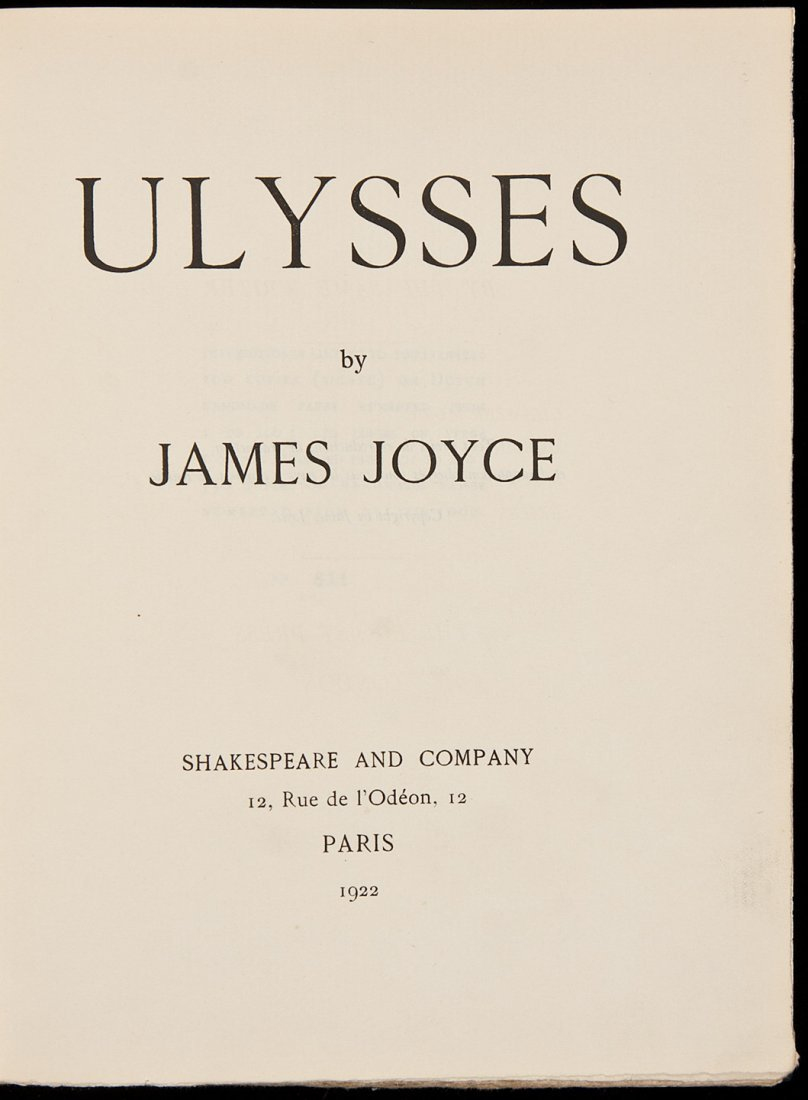 195: James Joyce Ulysses First Edition 1 of 750