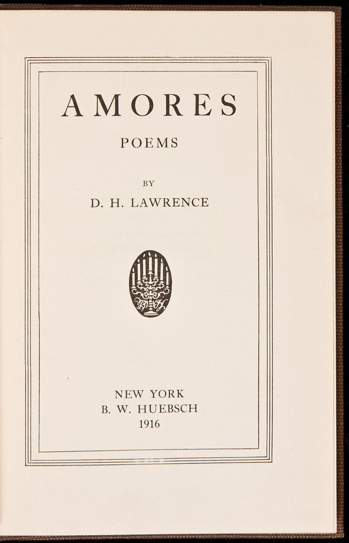 210: D.H. Lawrence Amores 1916