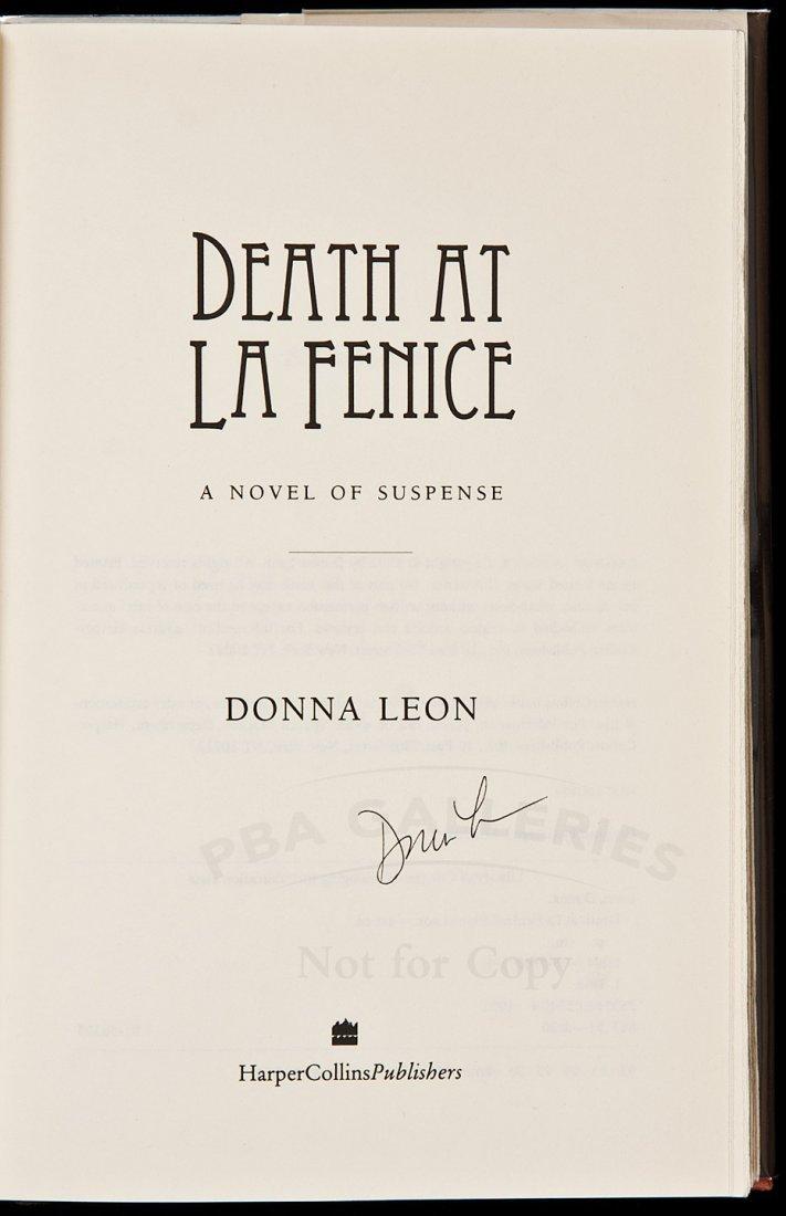 214: Donna Leon's 1st mystery novel signed