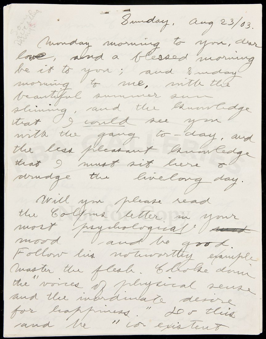 217: Letter from Jack London to future wife