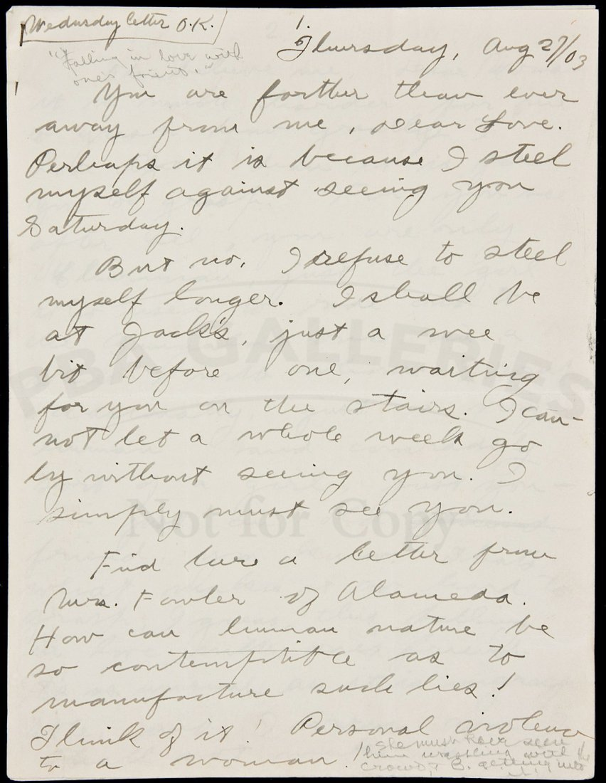 218: Letter from Jack London to future wife