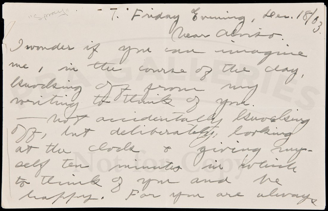 220: Letter from Jack London to future wife