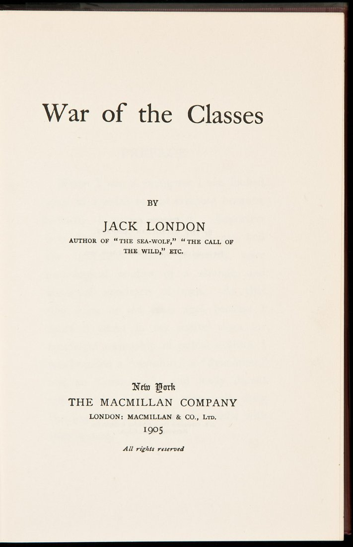 238: Jack London War of the Classes 1905