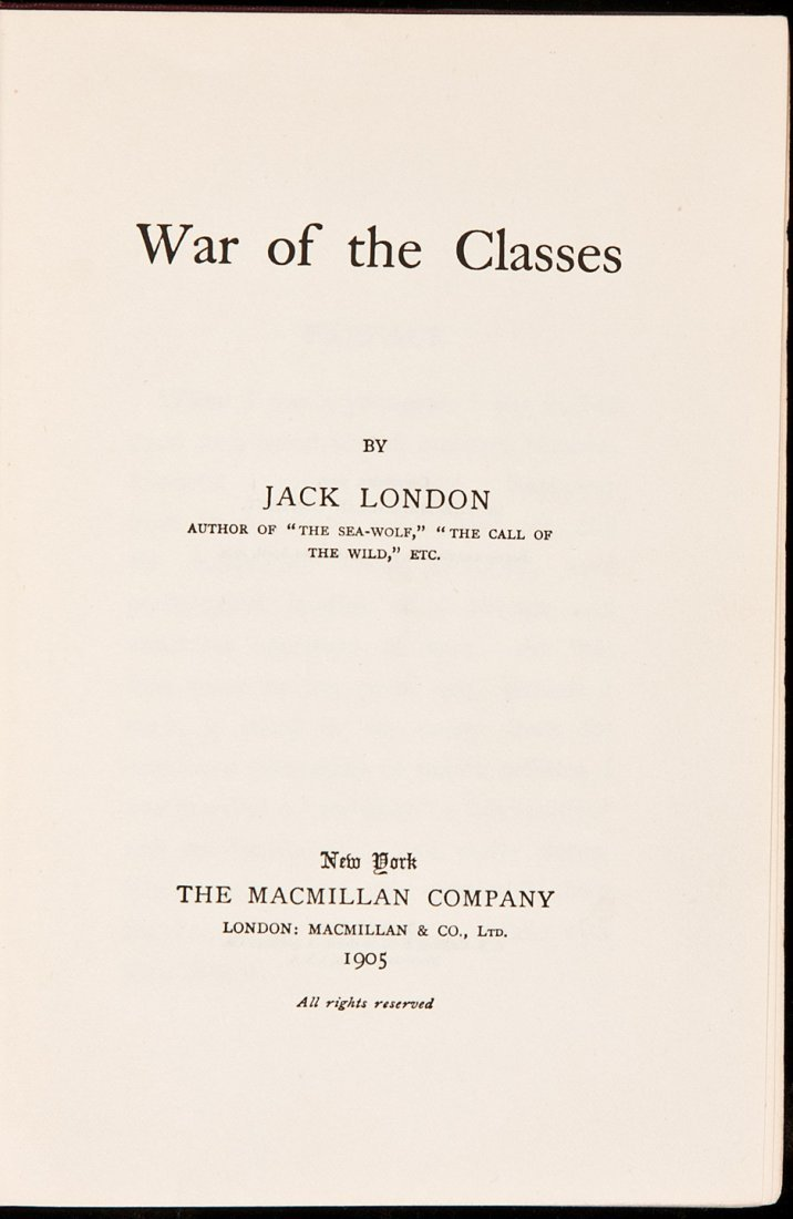 239: Jack London War of the Classes 1905