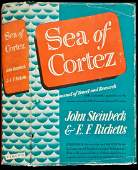 330 Sea of Cortez by Steinbeck 1st cloth issue in dj