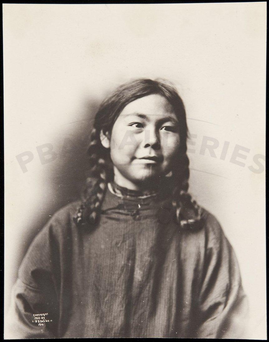 1: Photograph of an Eskimo girl by B.B. Dobbs