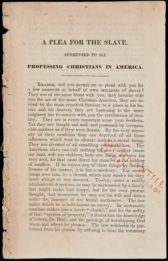 9: A Plea for the Slave c. 1834