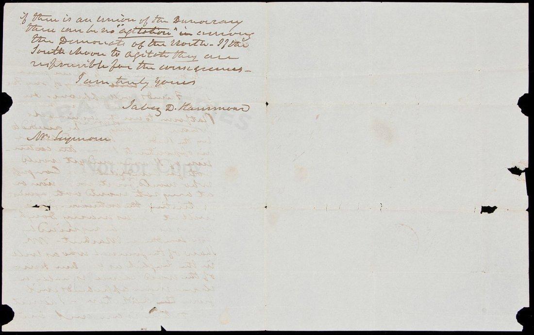 15: Jabez Hammond ALs regarding slavery