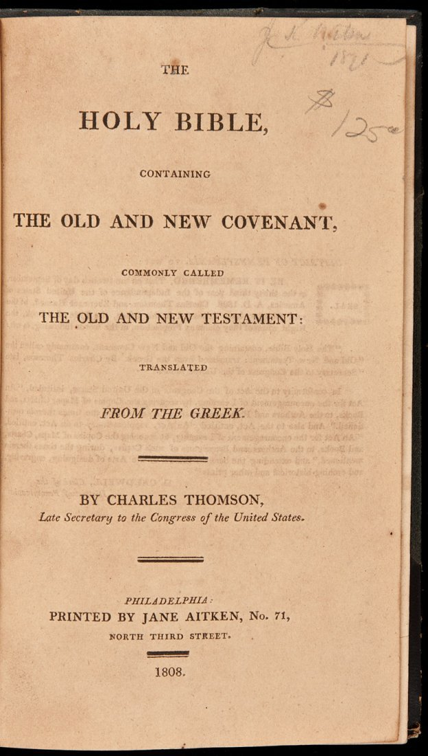 30: Thomson's Bible printed by Jane Aitken 1808