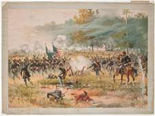 62 Chromolithograph of the Battle of Antietam