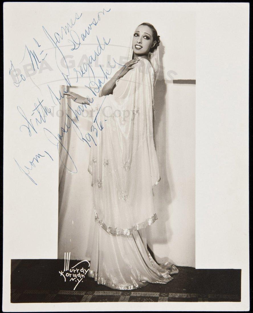 5: Inscribed photograph of Josephine Baker
