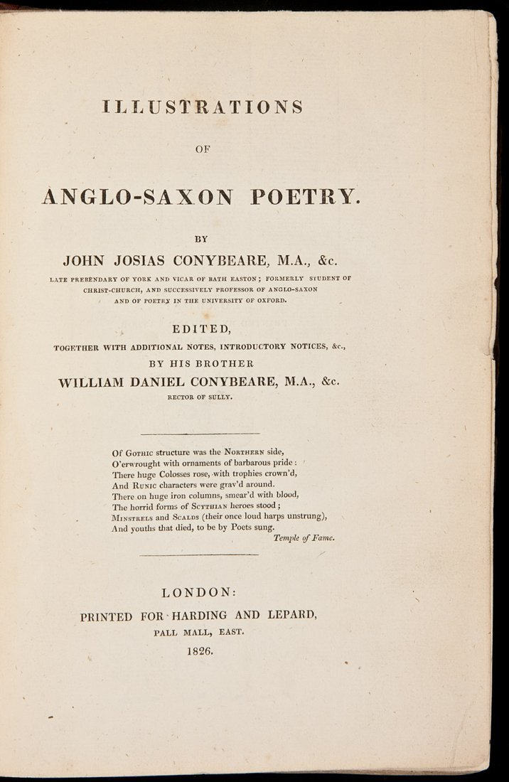 18: Conybeare's Illustrations of Anglo-Saxon Poetry