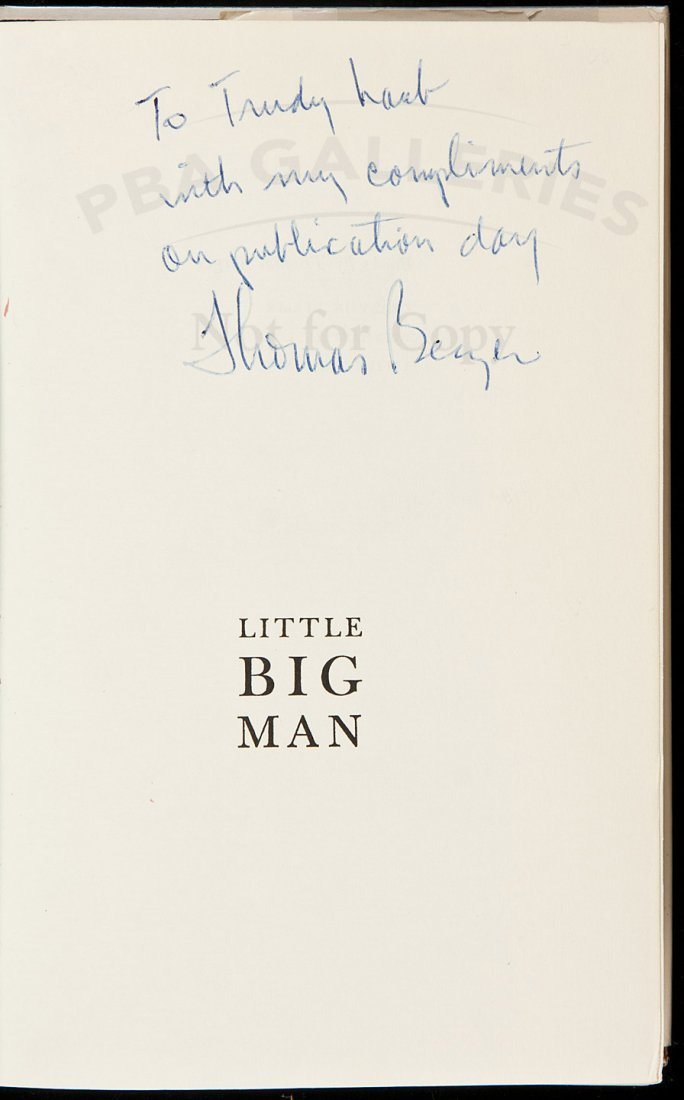 16: Little Big Man signed by Thomas Berger 1st in dj