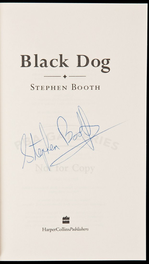 17: Booth Black Dog signed