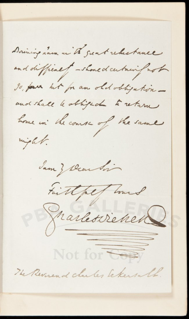 103: Dickens David Copperfield with original letter