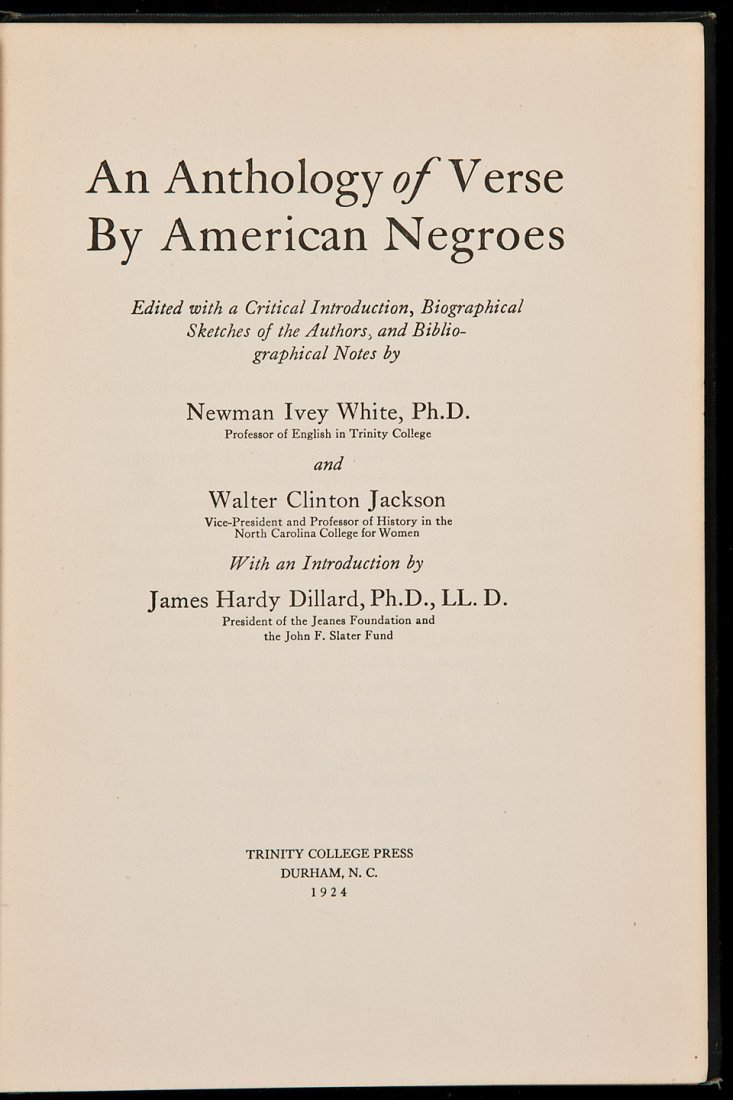 7: An Anthology of Verse by American Negroes