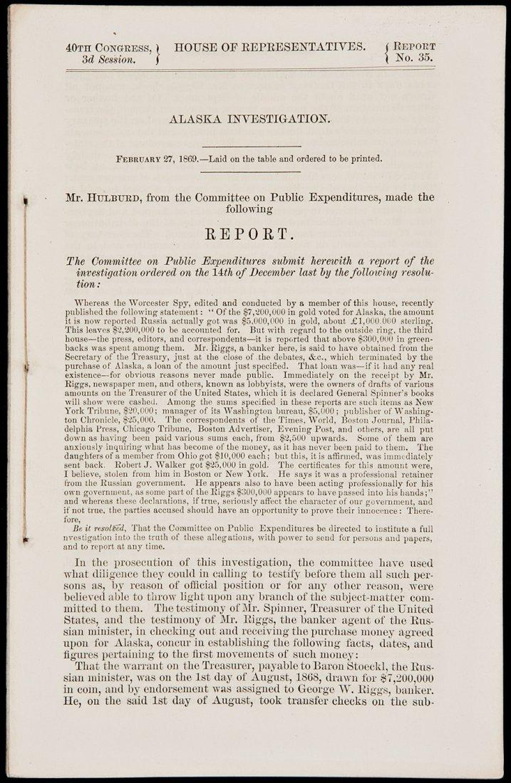 10: Congress investigates Seward's Folly