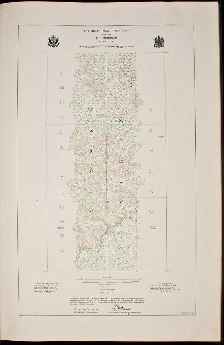 14: Atlas of U.S./Canada Alaska boundary 1918