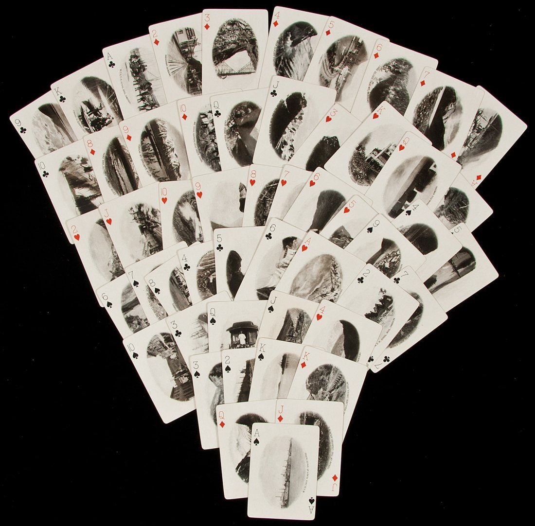 15: Playing cards with Alaska photos, 1900