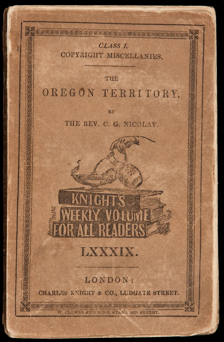 17: Ten Years in Oregon with Dr. White 1848 1st issue