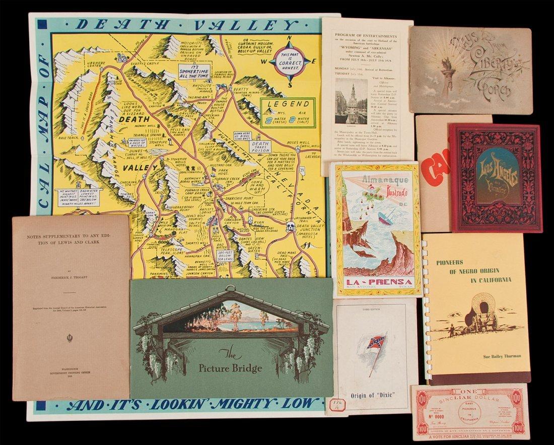 18: Small group of Americana booklets & ephemera