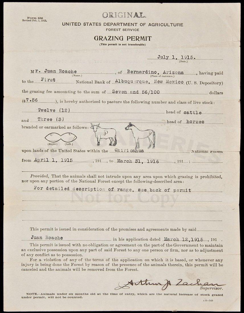 23: Arizona grazing permit 1915
