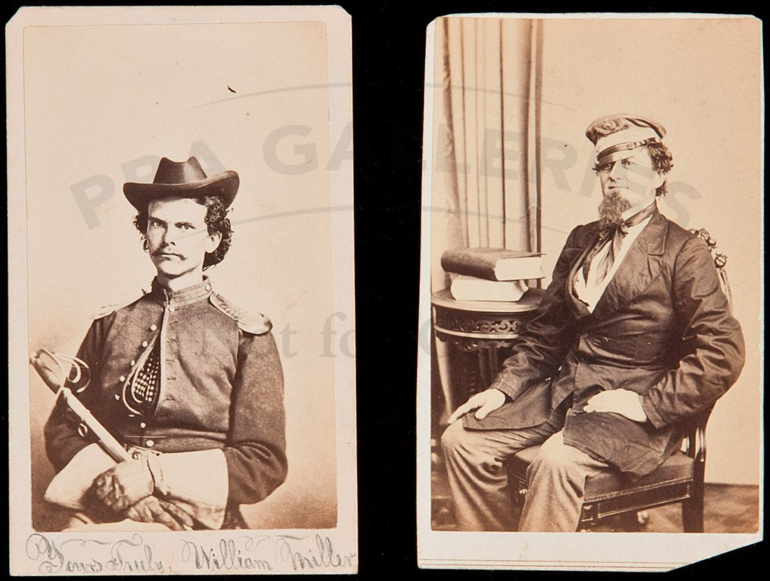 81: 2 cdvs of Confederate officers in the Civil War