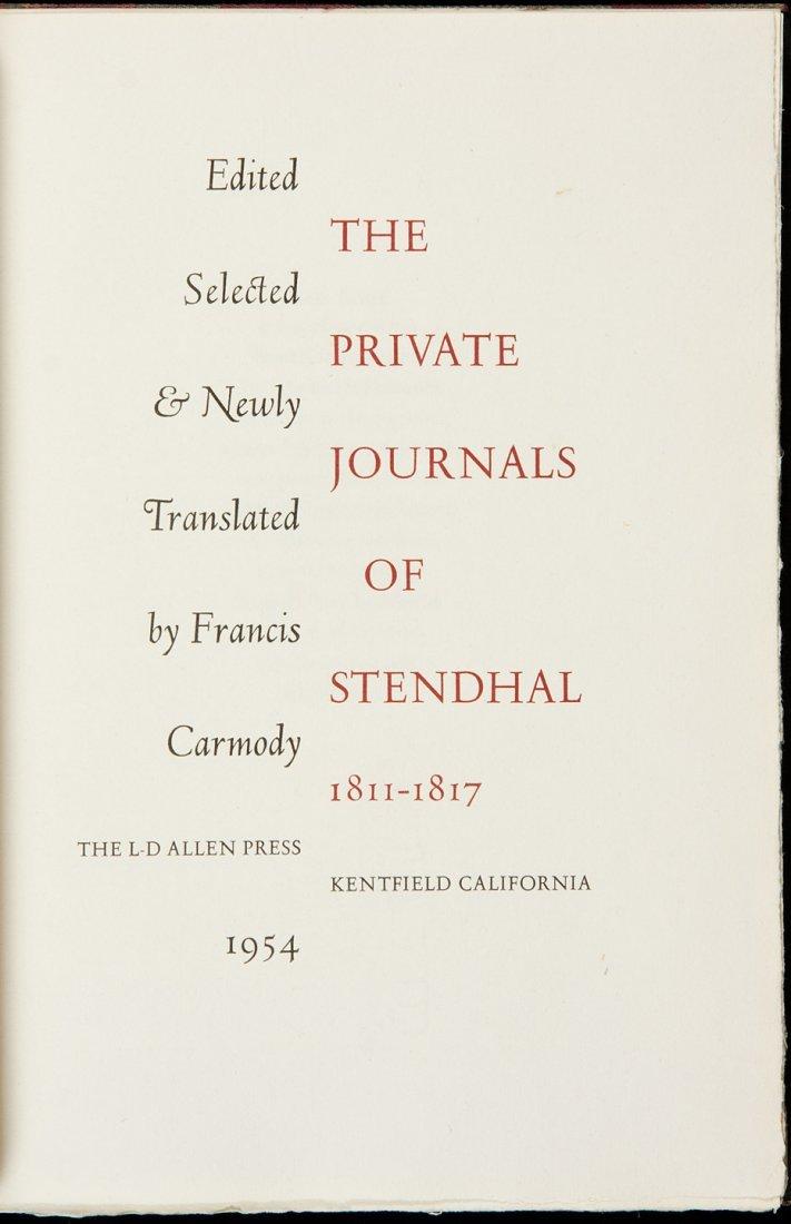 6: Allen Press Private Journals of Stendhal, 1/175