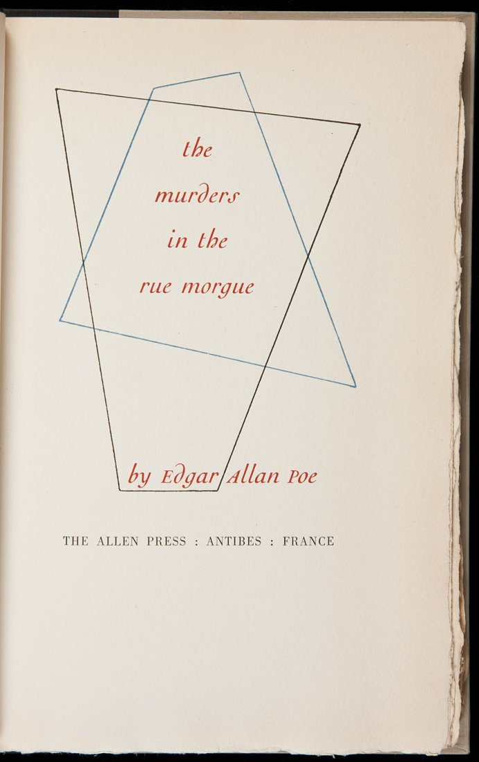 15: Allen Press, Poe, Murders in the Rue Morgue 1/150