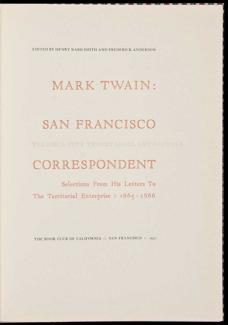 17: Mark Twain from Allen Press 1/400