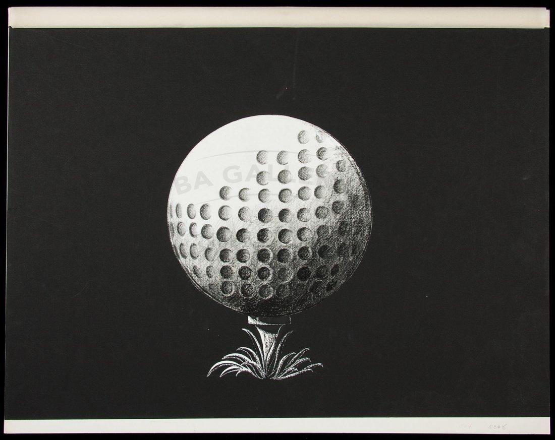 10: Eleven original sketches for a golf publication