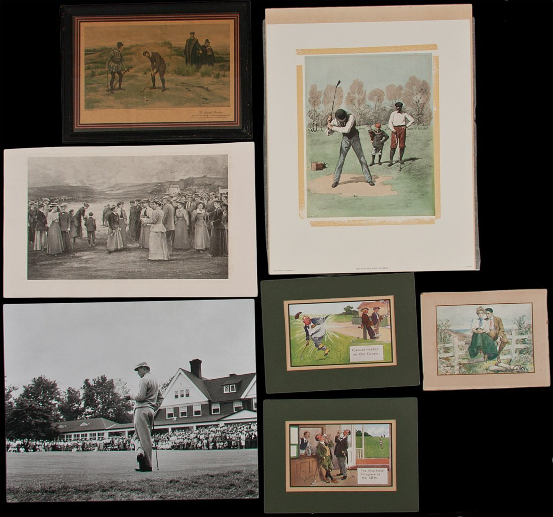 12: Collection of golfing art