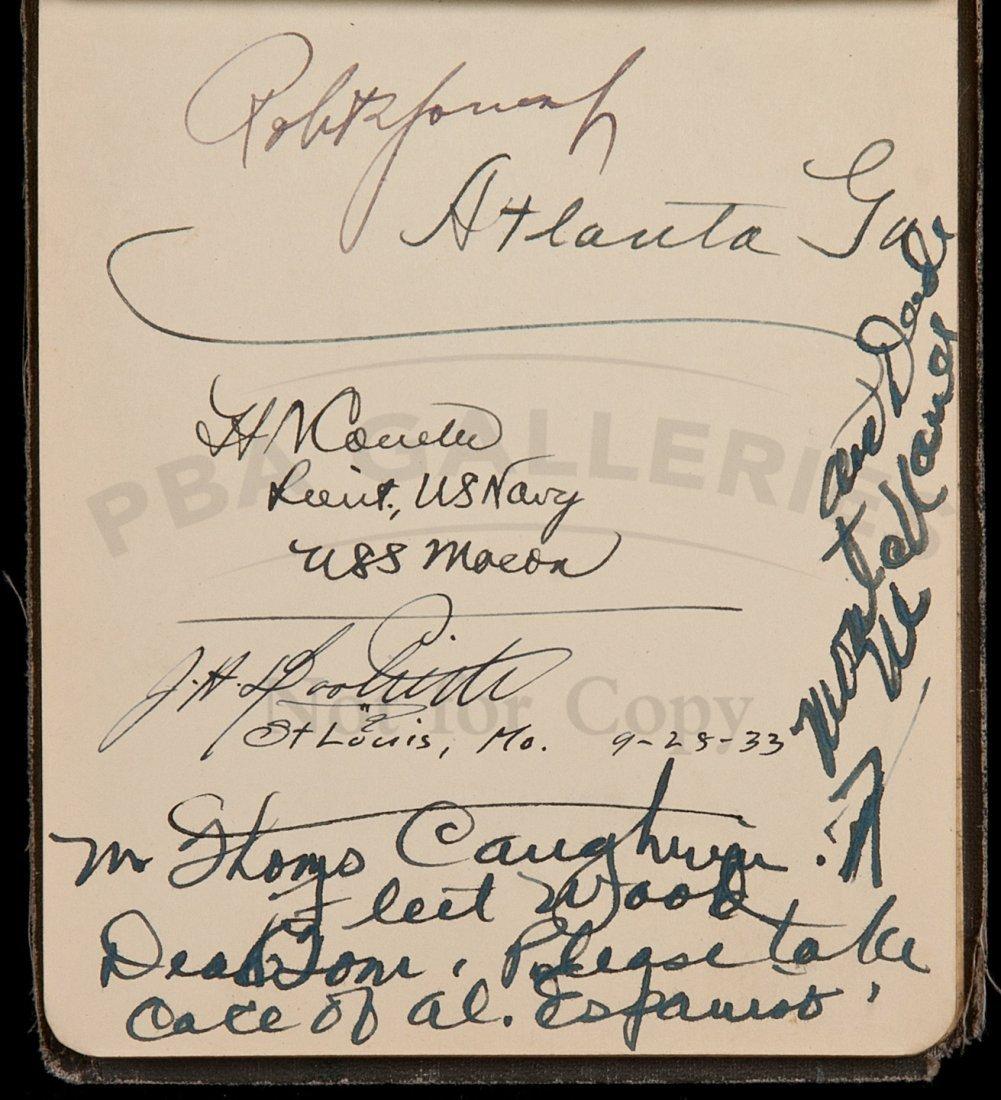 17: Autograph album of Mrs. Espinosa, golfers, etc.