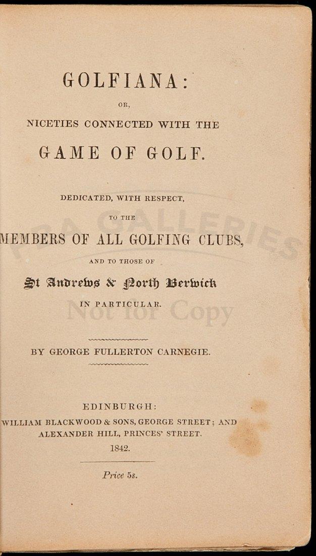 47: Golfiana by Geo F Carnegie 1842 3rd ed in wraps