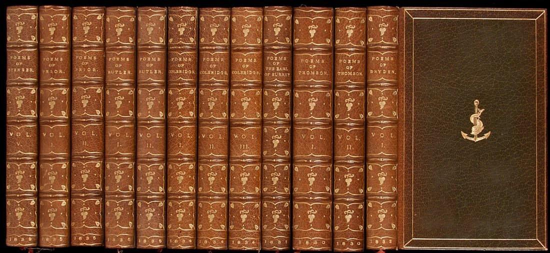 4: Thirty volumes from the Aldine British Poets seri